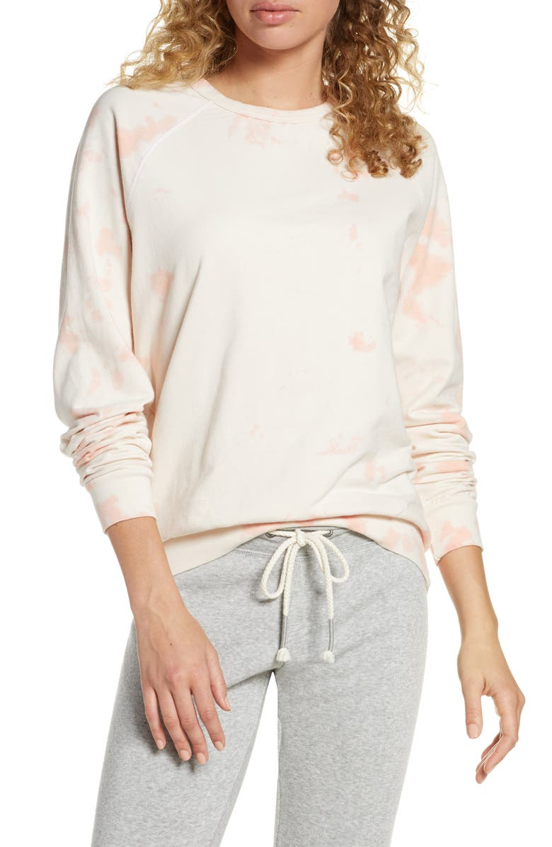 PROJECT SOCIAL T By Chance Sweatshirt, Main, color, CORAL CRYSTAL WASH