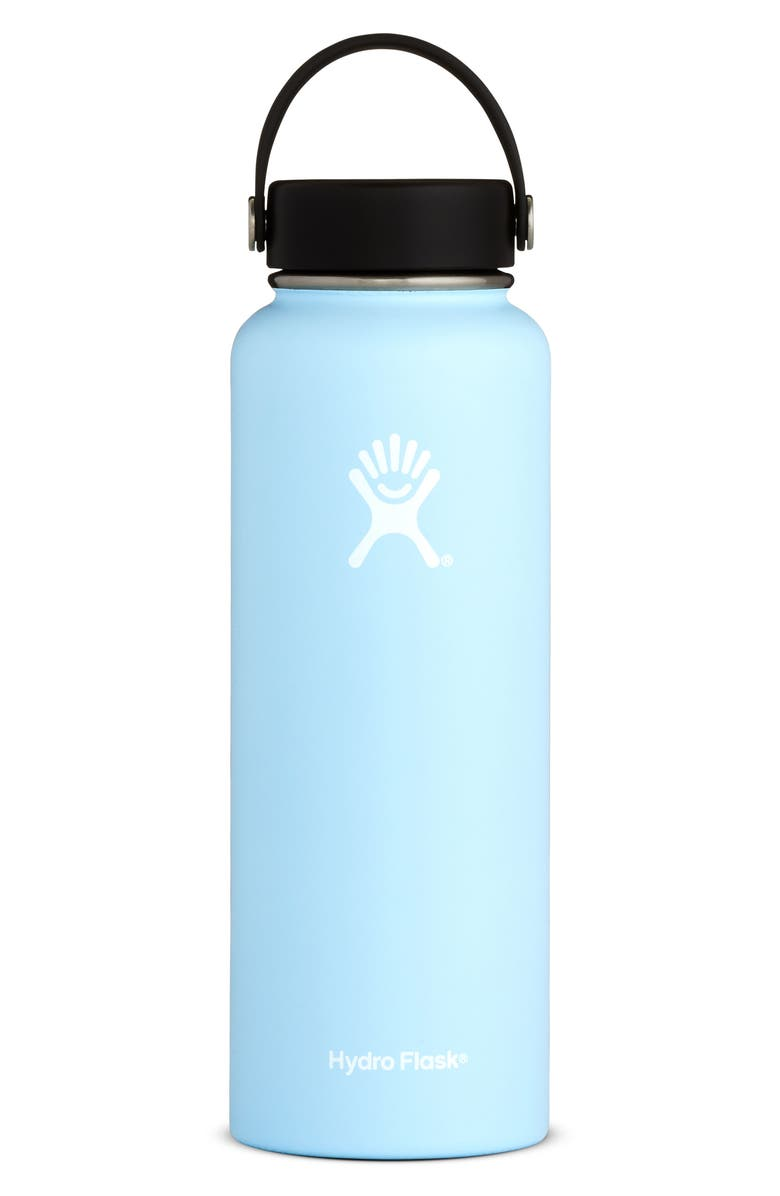 HYDRO FLASK 40-Ounce Wide Mouth Cap Bottle, Main, color, FROST