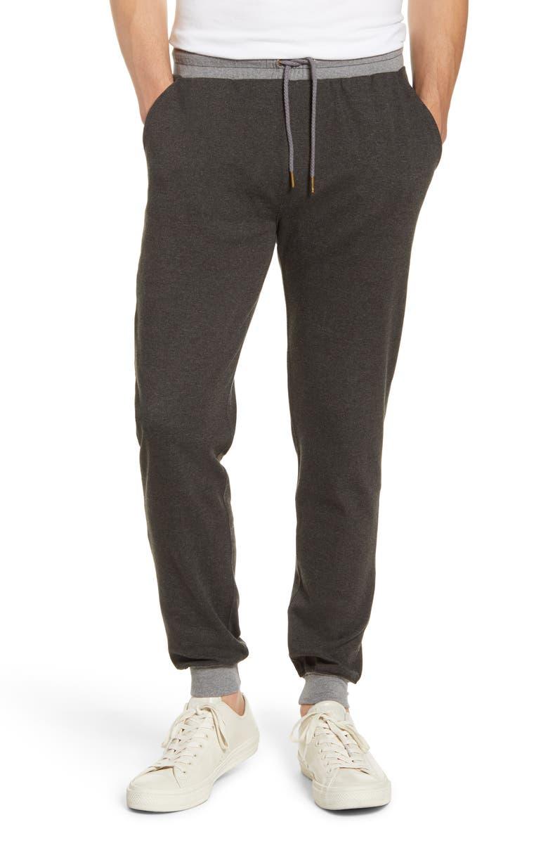 THE NORMAL BRAND Puremeso Straight Leg Flannel Sweatpants, Main, color, 010