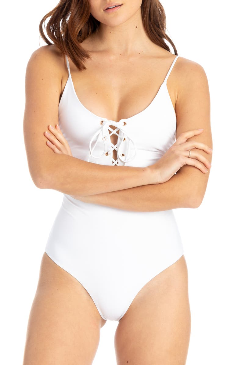 e18393ae9e Monahan One-Piece Swimsuit, Main, color, WHITE