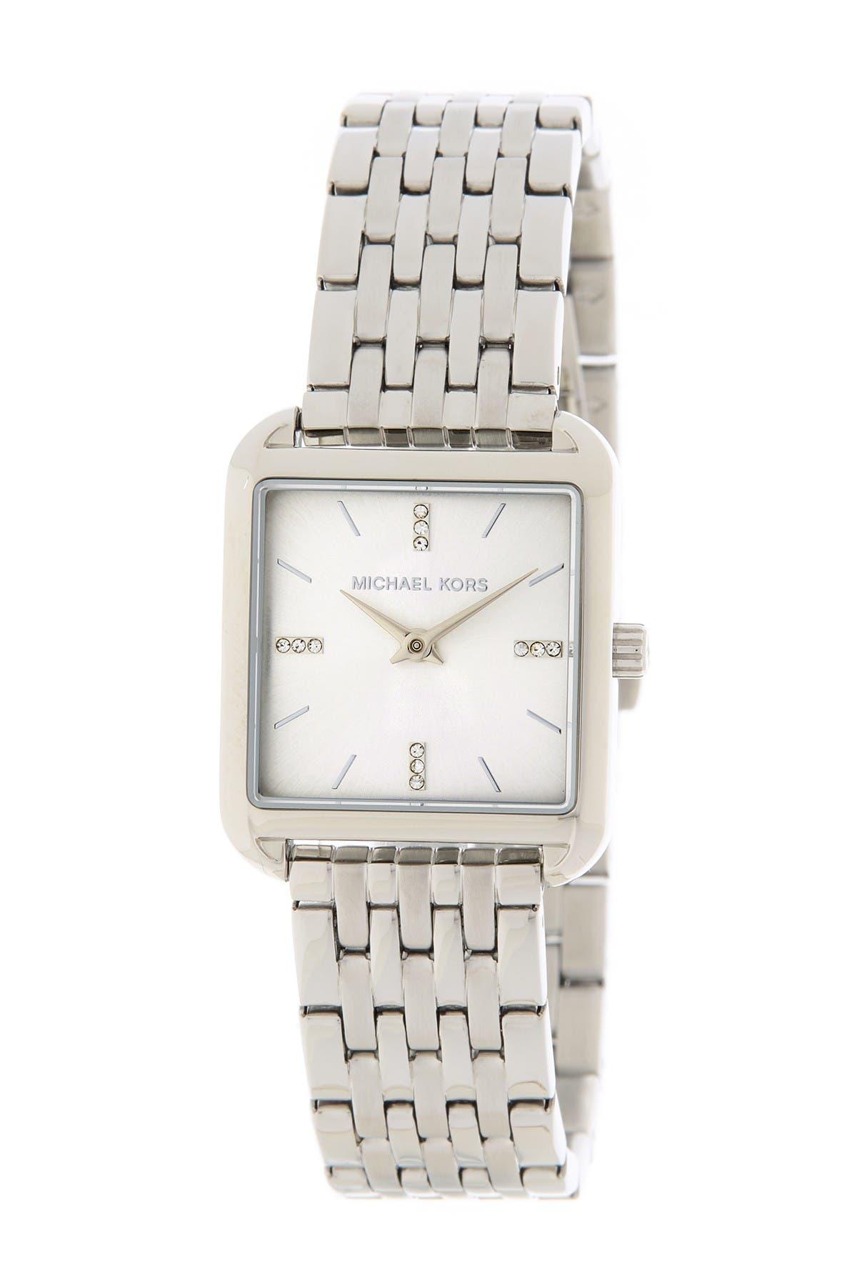 Image of MICHAEL Michael Kors Women's Drew Stainless Steel Bracelet Watch, 33mm x 39mm