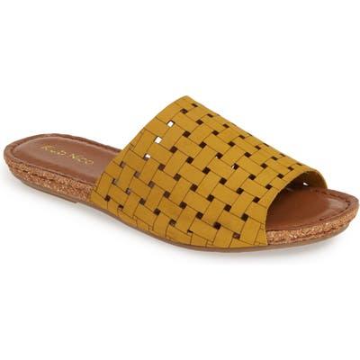 Klub Nico Gratzie Woven Slide Sandal, Yellow