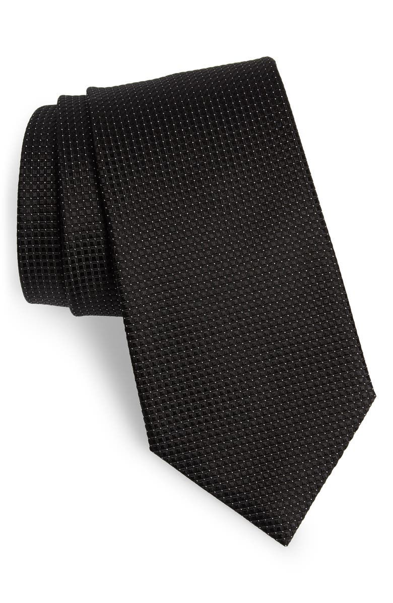ERMENEGILDO ZEGNA Geometric Silk Tie, Main, color, 009