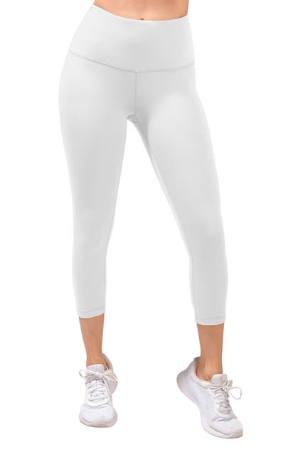 Image of 90 Degree By Reflex Missy Interlink High Waist Capri Leggings