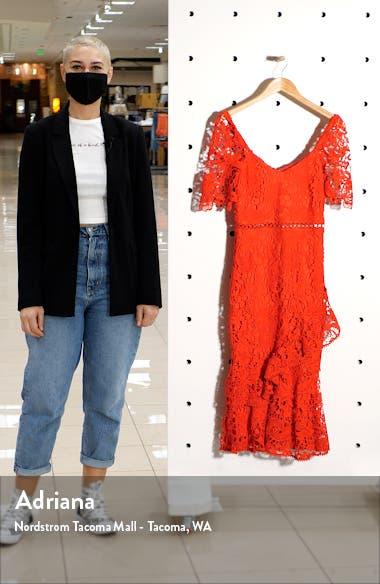 Briarwood Ruffle Lace Cocktail Dress, sales video thumbnail