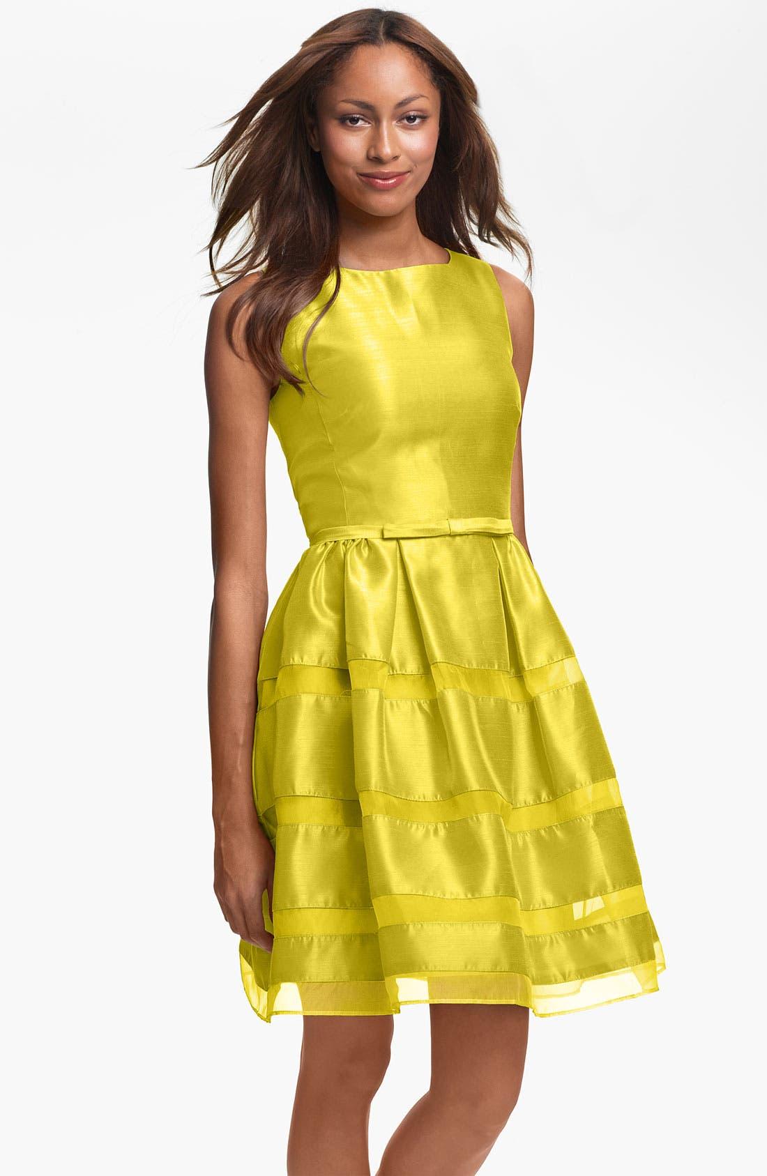 ,                             Tonal Stripe Fit & Flare Dress,                             Main thumbnail 12, color,                             727