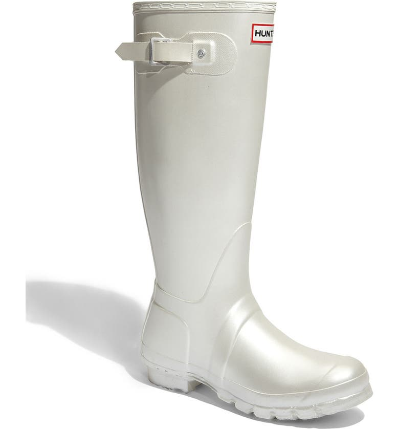 HUNTER 'Original Tall' Metallic Rain Boot, Main, color, 111