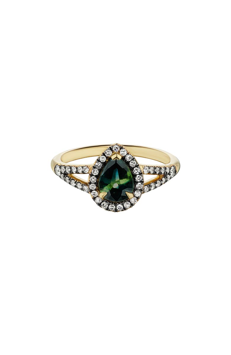 MANIAMANIA Reverie Ring, Main, color, YELLOW GOLD/ SAPPHIRE