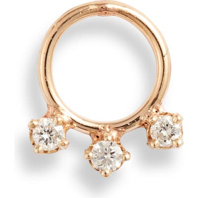 Zoe Chicco Single Diamond Frontal Earring