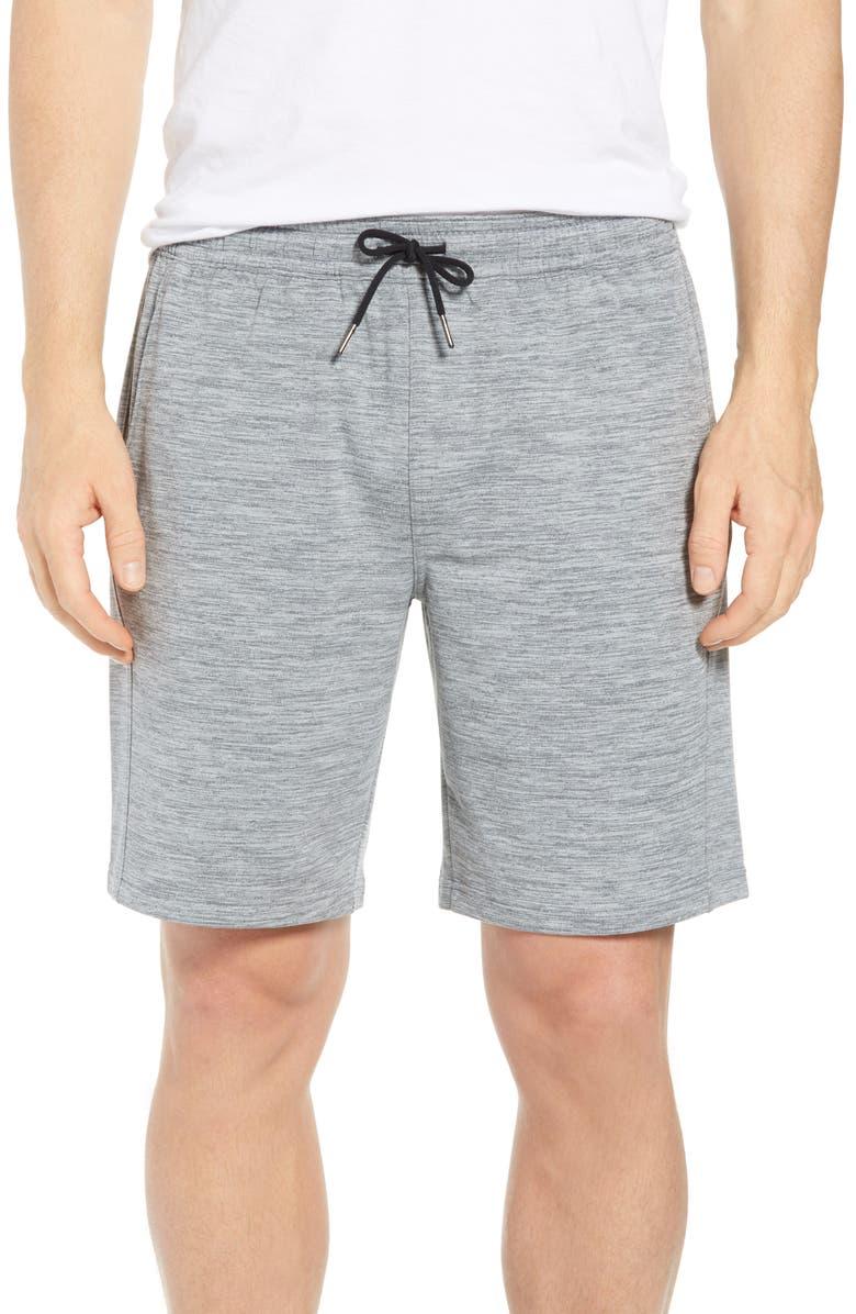 ZELLA Pyrite Knit Shorts, Main, color, GREY WOLF MELANGE