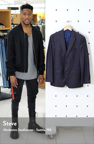 Classic Fit Plaid Wool Sport Coat, sales video thumbnail