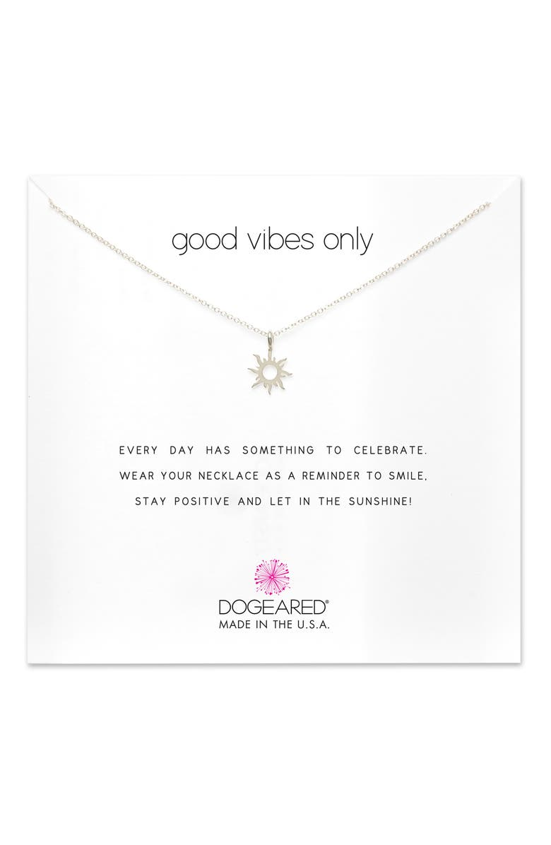 DOGEARED Good Vibes Only Pendant Necklace, Main, color, 041
