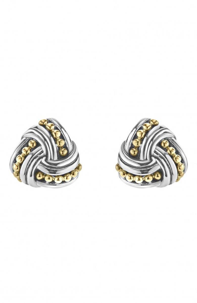LAGOS Torsade Stud Earrings, Main, color, SILVER/ GOLD