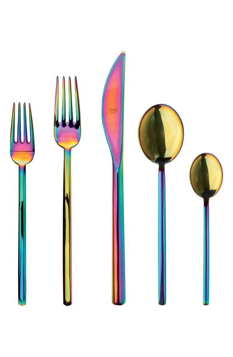 MEPRA Rainbow 5-Piece Place Setting, Main, color, STAINLESS RAINBOW