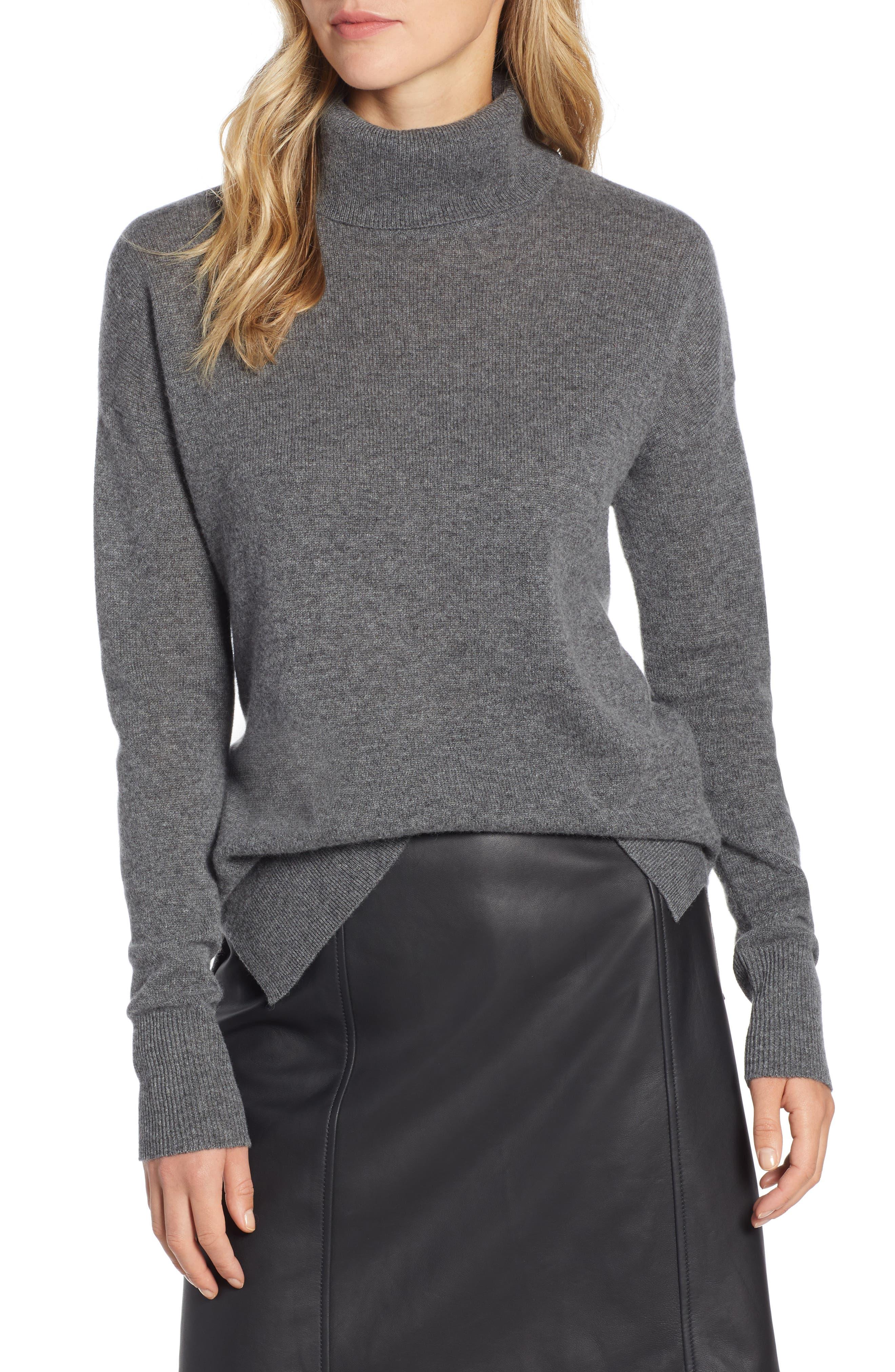 ,                             Cashmere Turtleneck Sweater,                             Main thumbnail 13, color,                             030