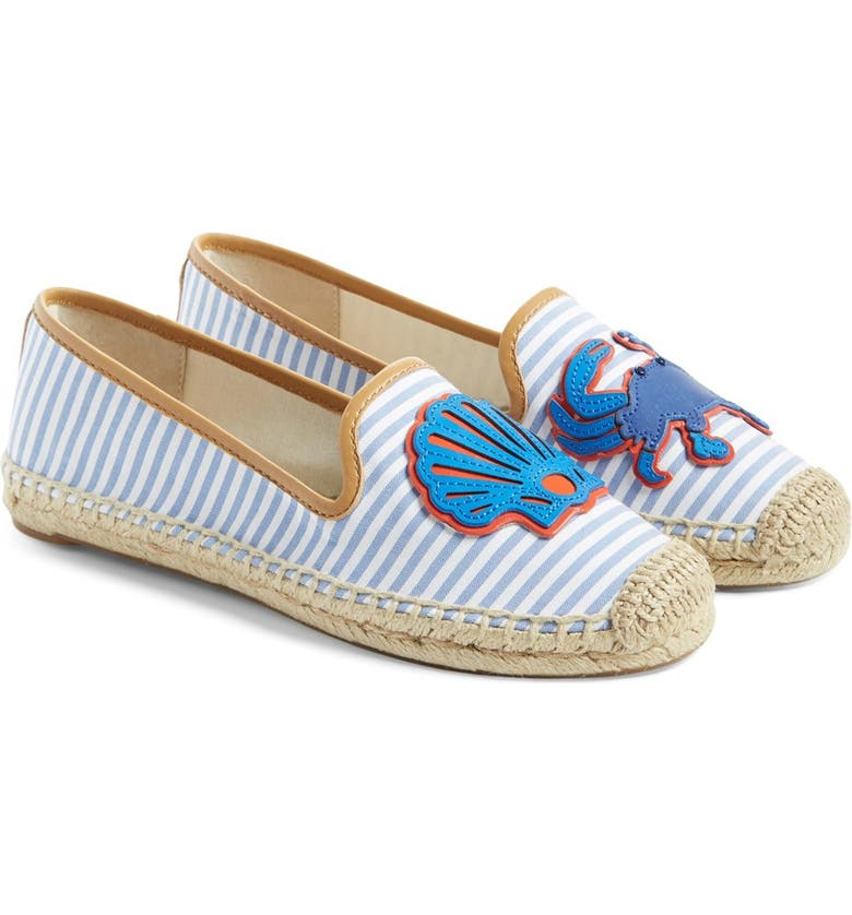 TORY BURCH 'Crab' Espadrille Flat, Main, color, 435