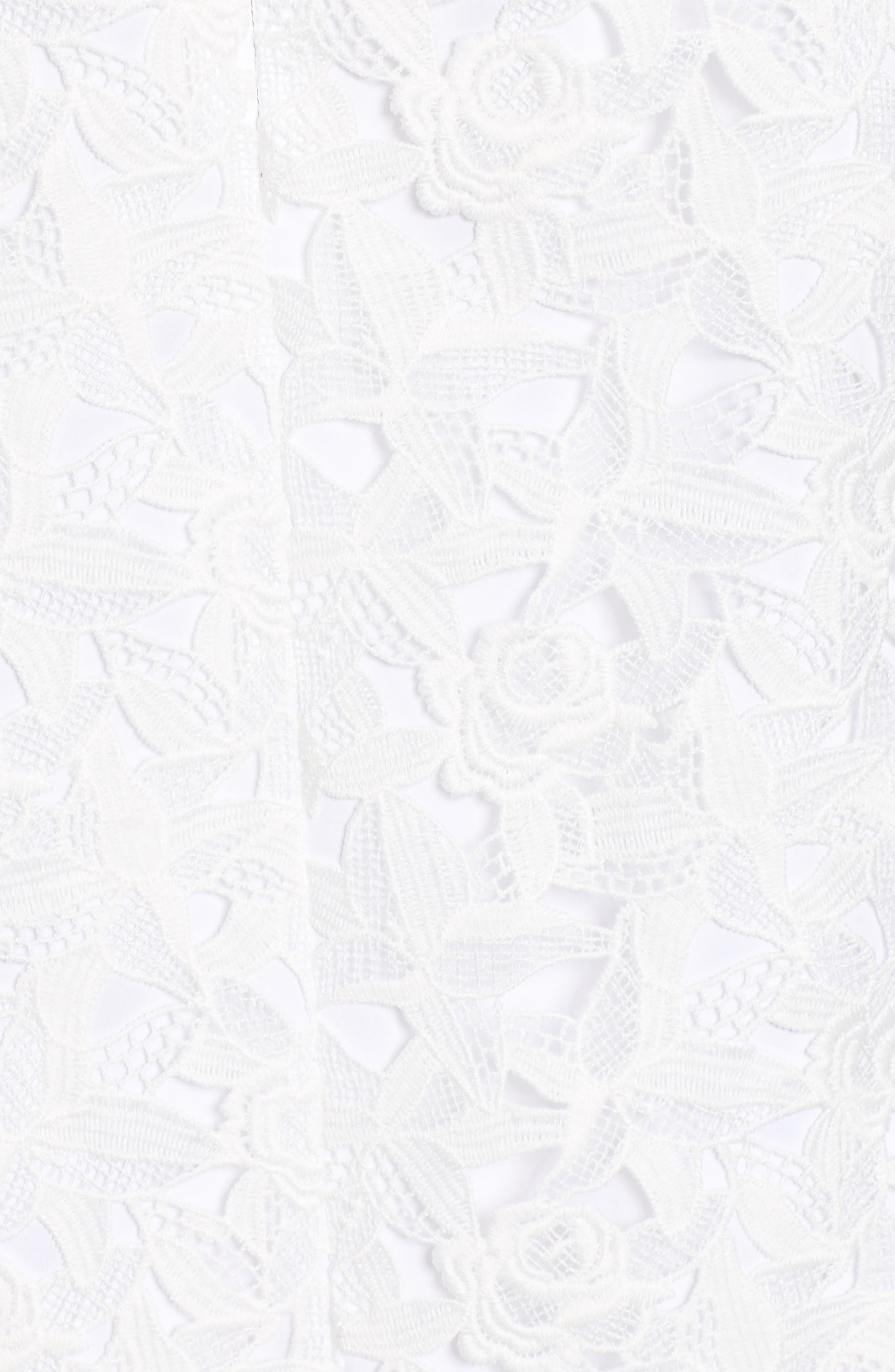 ,                             Lace Shift Dress,                             Alternate thumbnail 6, color,                             WHITE CAP