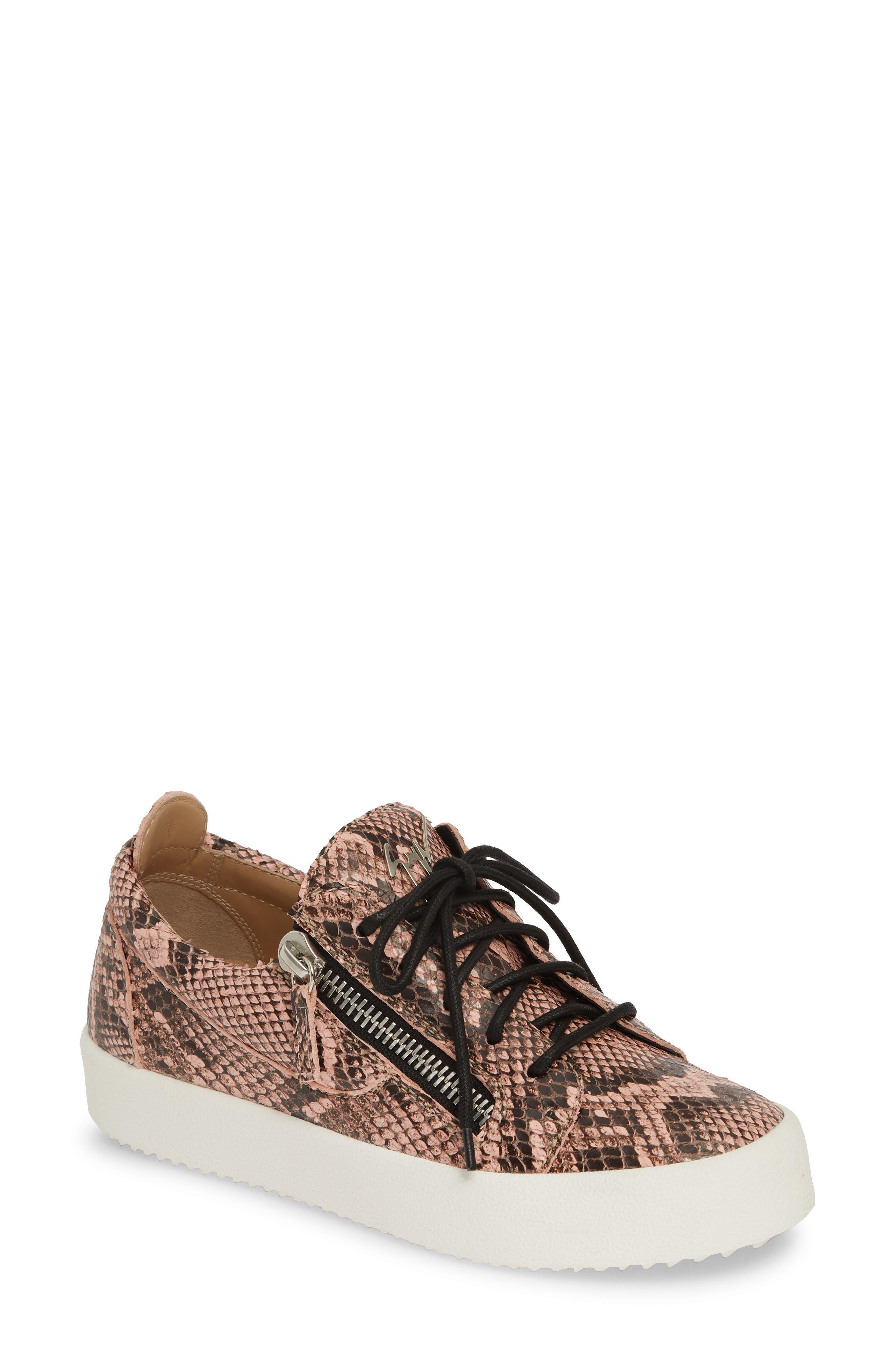 Giuseppe Zanotti May London Low Top Sneaker, Pink