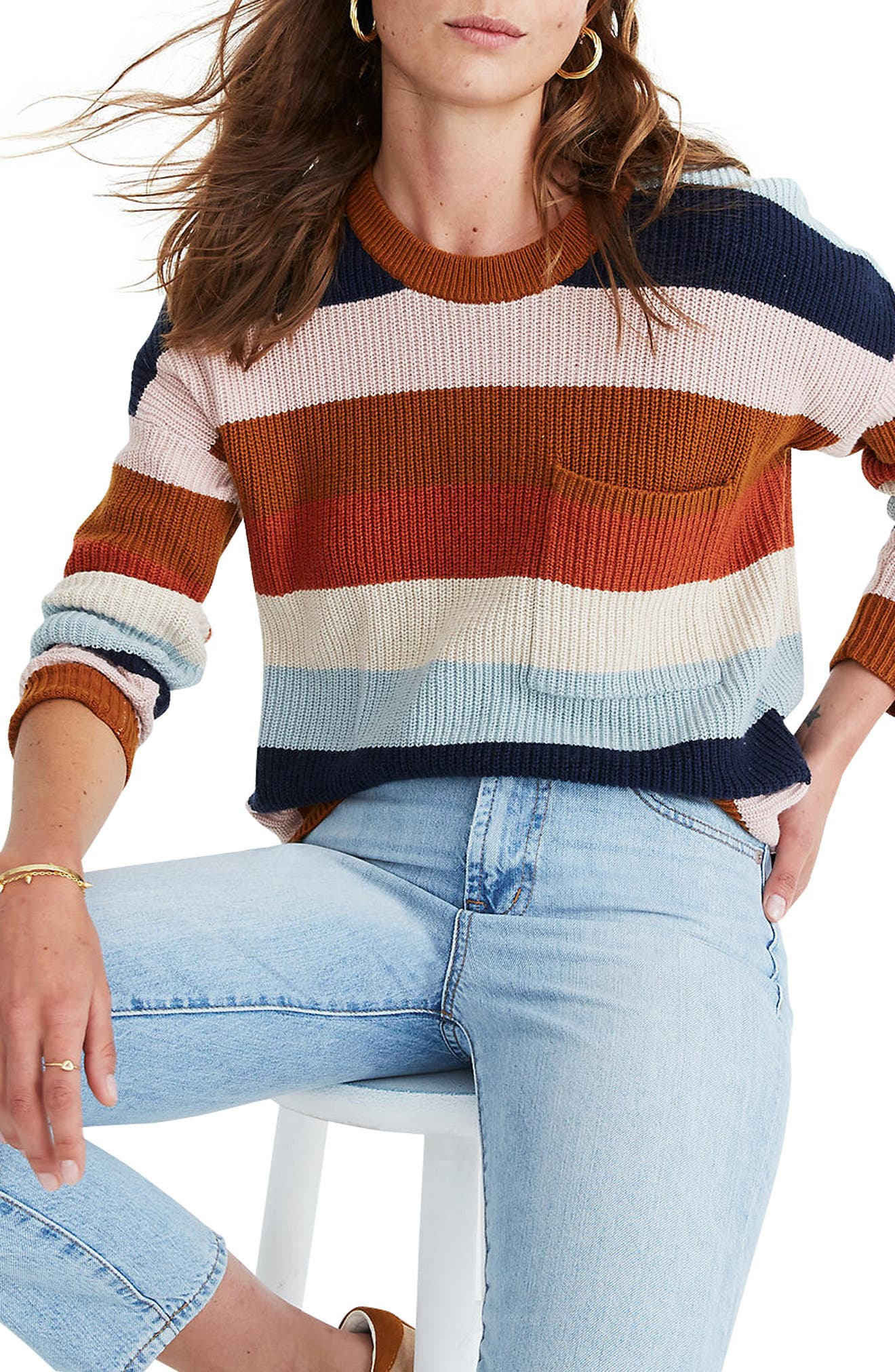 Image of Madewell Thompson Pocket Pullover Sweater