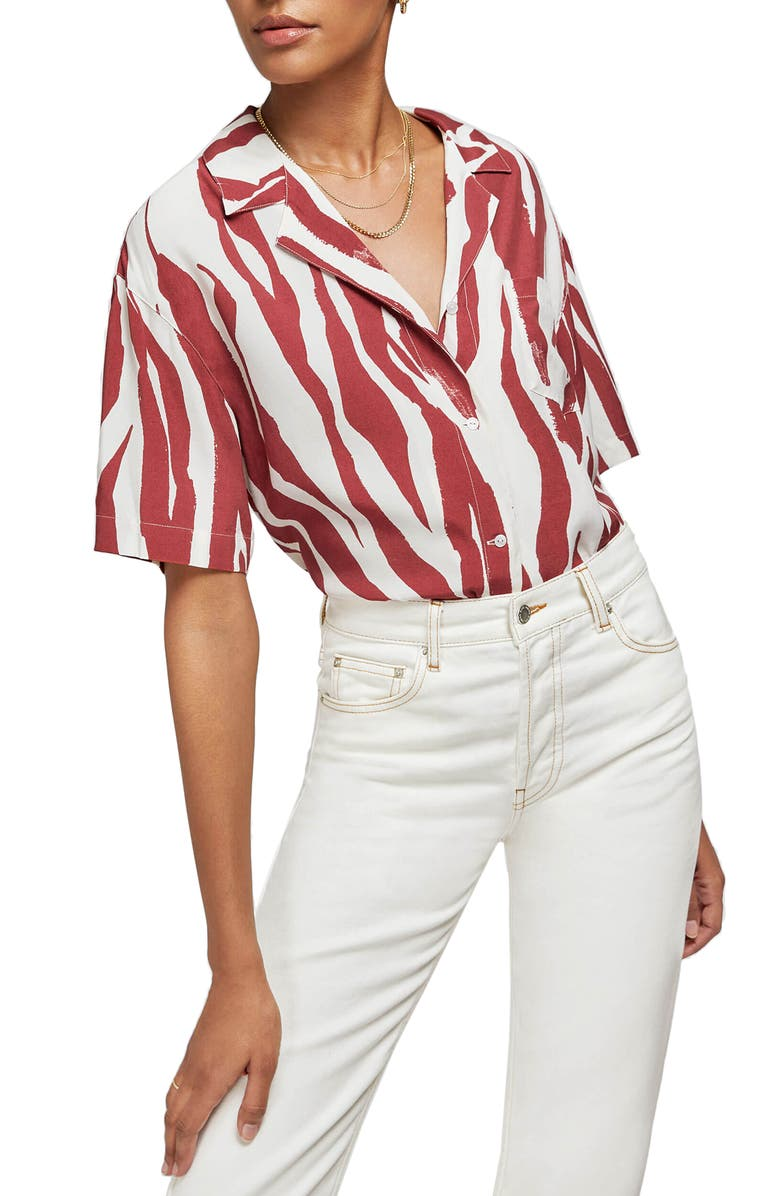 ANINE BING Benji Shirt, Main, color, ZEBRA