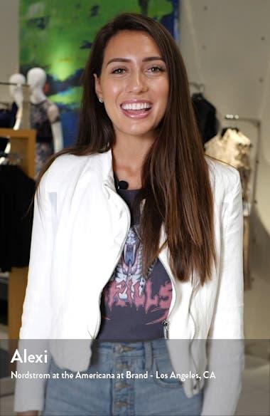 Olena Leopard Print Silk Long Sleeve Minidress, sales video thumbnail