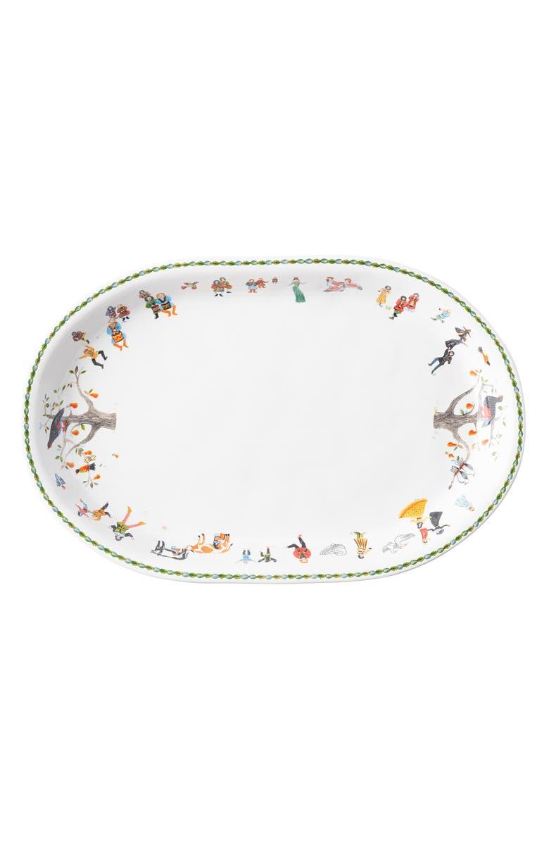 JULISKA Twelve Days of Christmas Platter, Main, color, WHITE MULTI