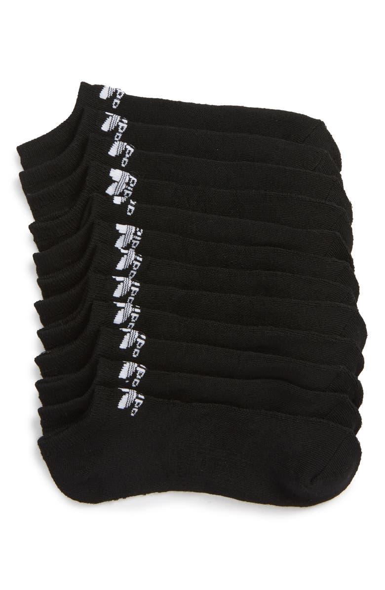 ADIDAS ORIGINALS Trefoil 6-Pack No-Show Socks, Main, color, 001