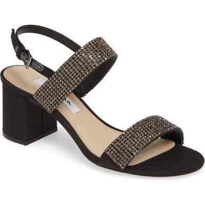 Nina Naomi Crystal Embellished Sandal- Black