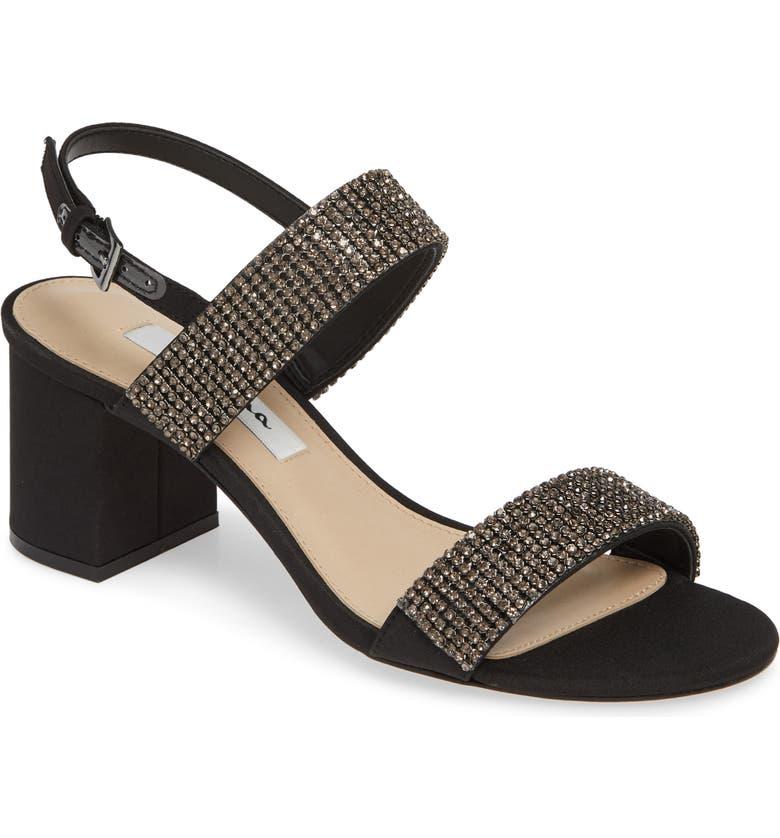 NINA Naomi Crystal Embellished Sandal, Main, color, 005