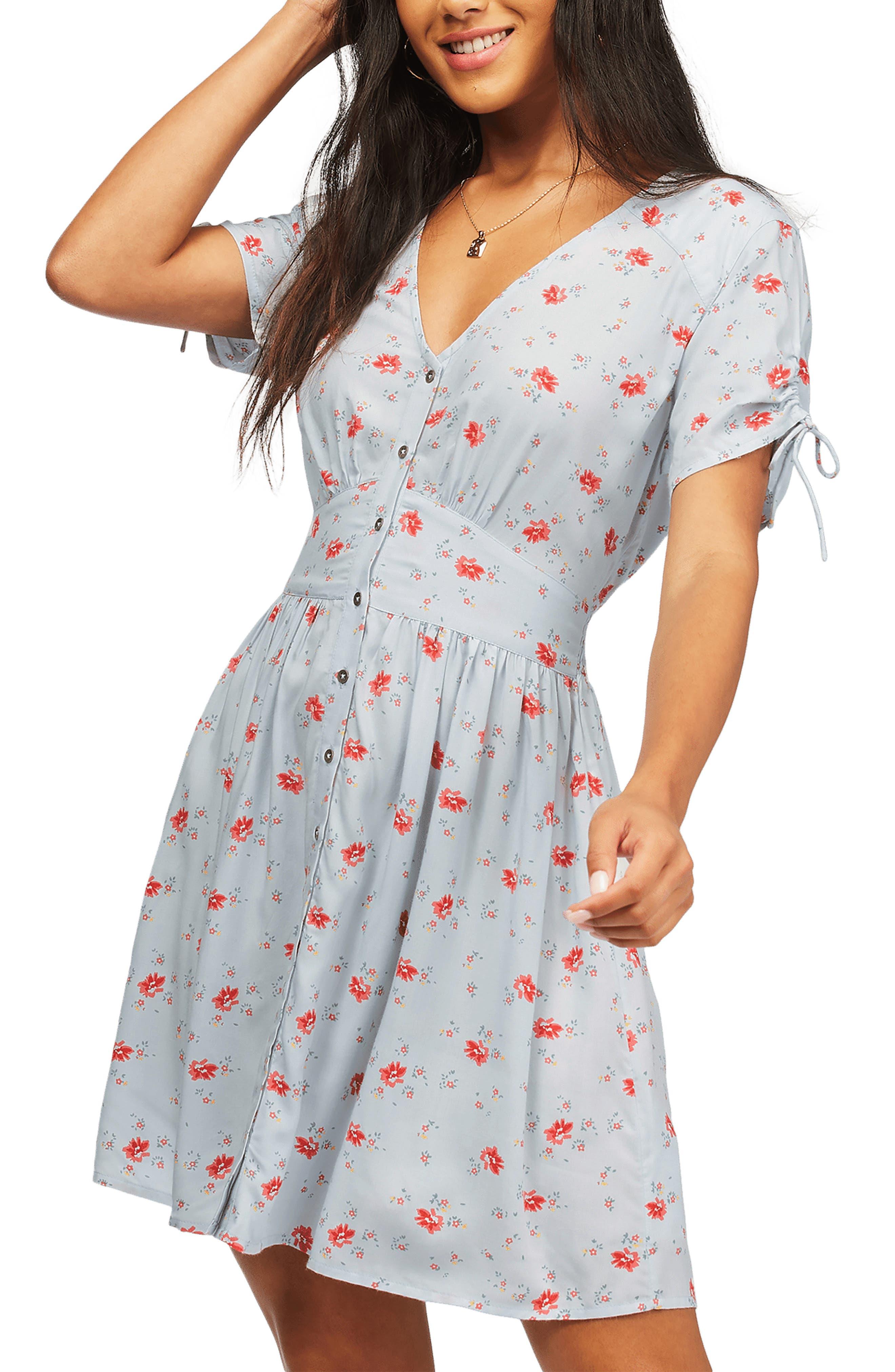 Twirl Twist Print Dress