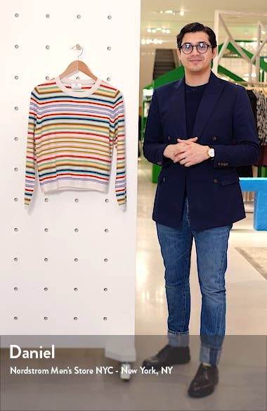 Stripe Cashmere Sweater, sales video thumbnail