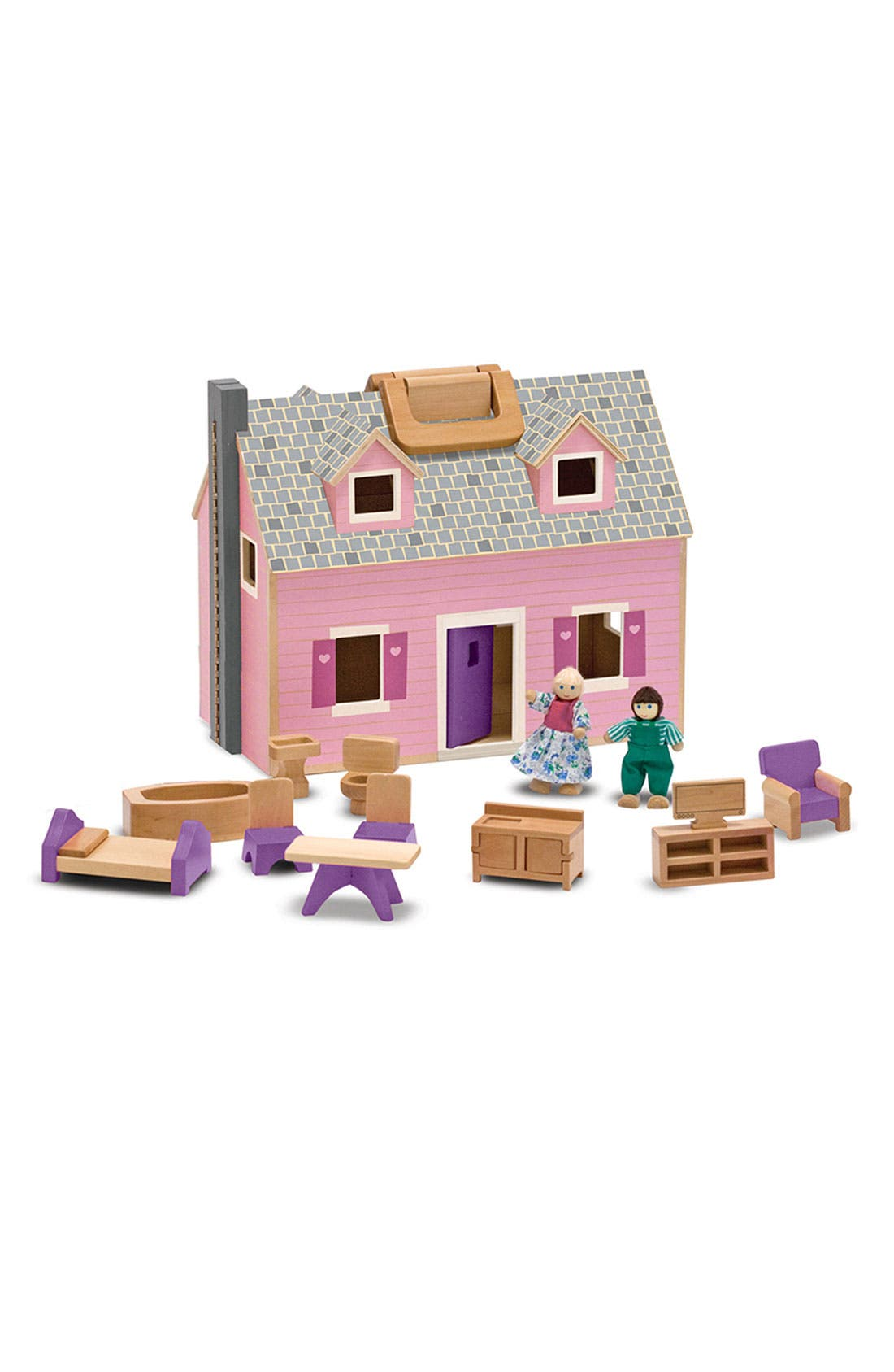 ,                             'Fold & Go' Play Set,                             Main thumbnail 1, color,                             WOOD/ PINK