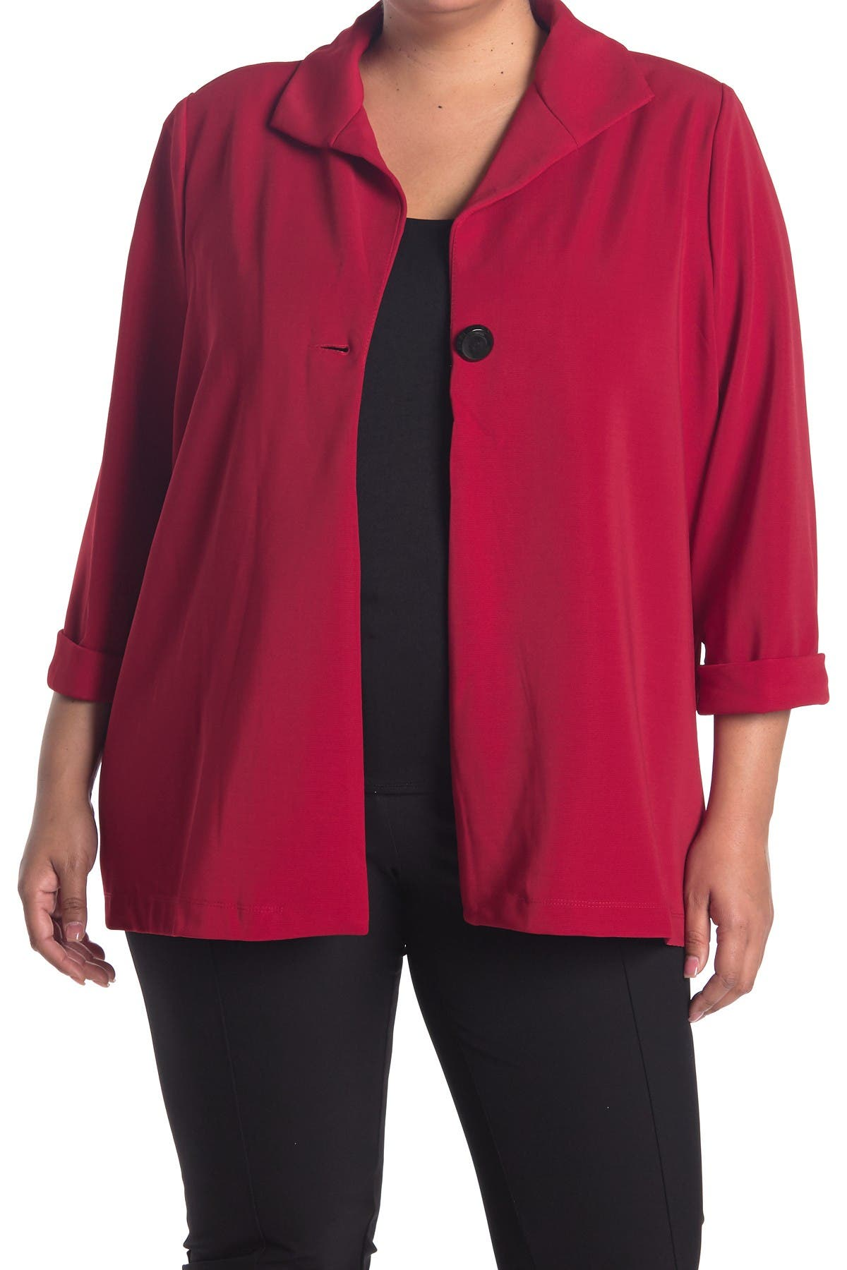 Image of GRACE ELEMENTS 3/4 Cuffed Sleeve Button Jacket