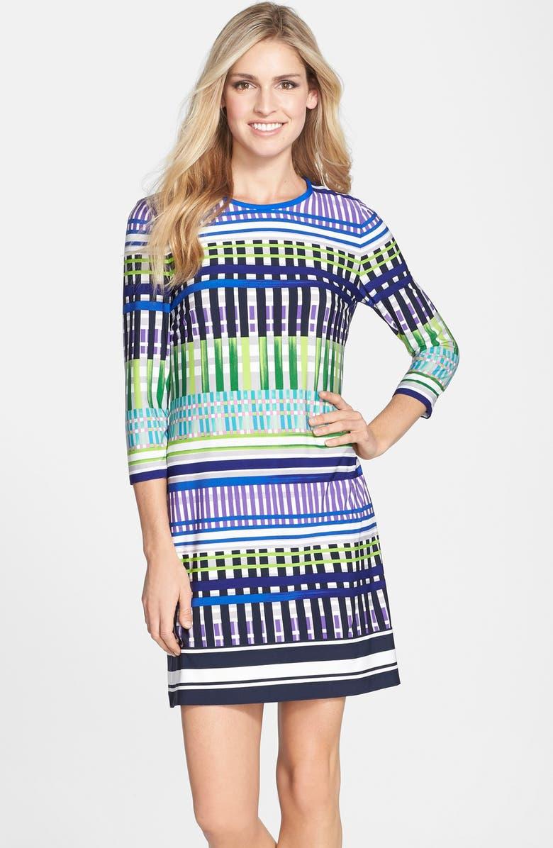 ELIZA J Print Jersey A-Line Dress, Main, color, 496