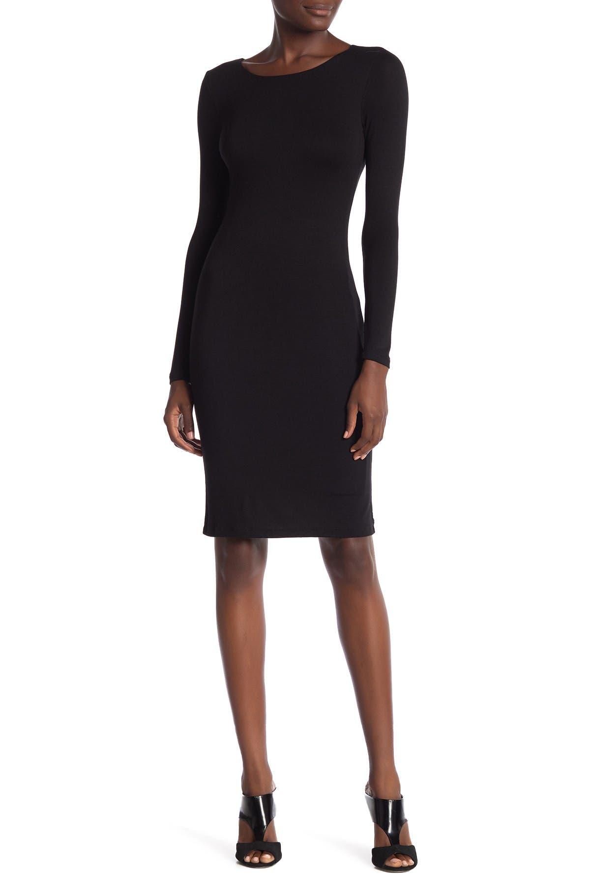 Image of Velvet Torch Long Sleeve Bodycon Midi Dress