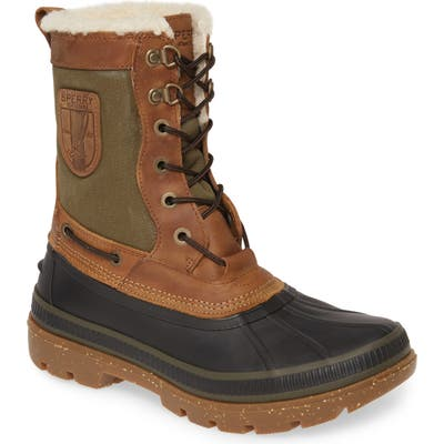 Sperry Ice Bay Tall Waterproof Snow Boot- Brown