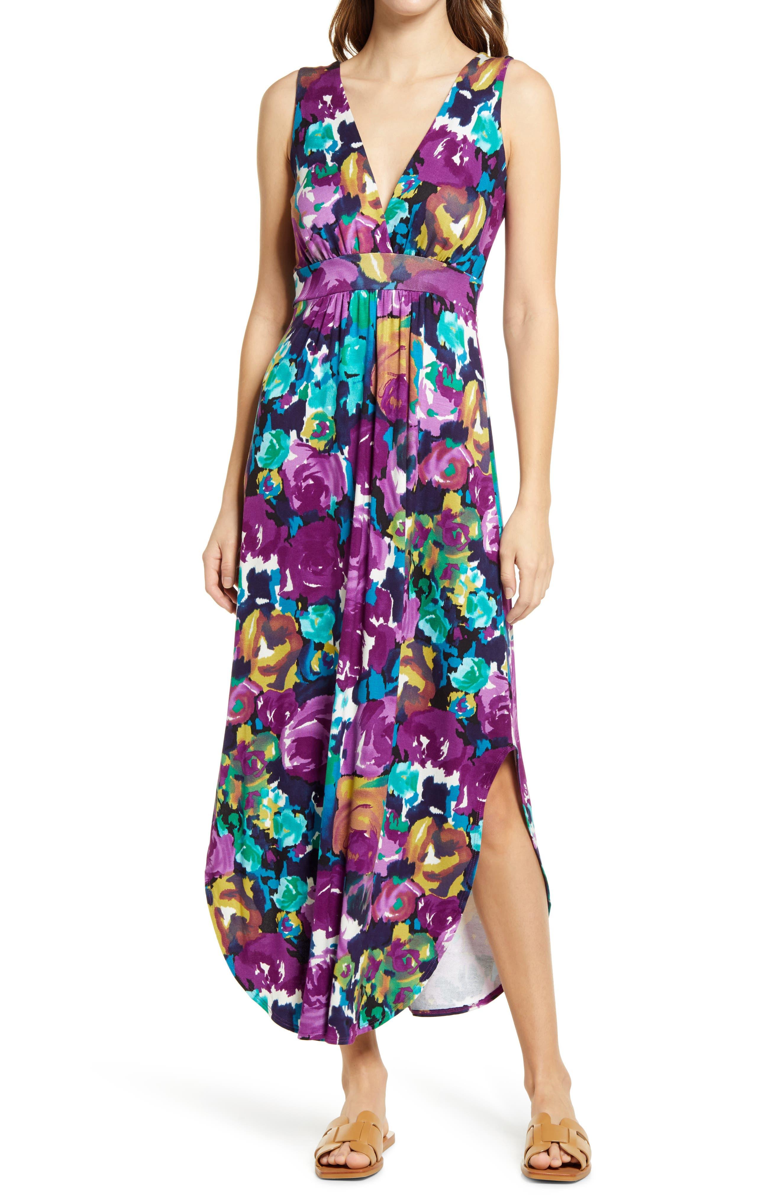 Anza Floral Print Sleeveless Dress