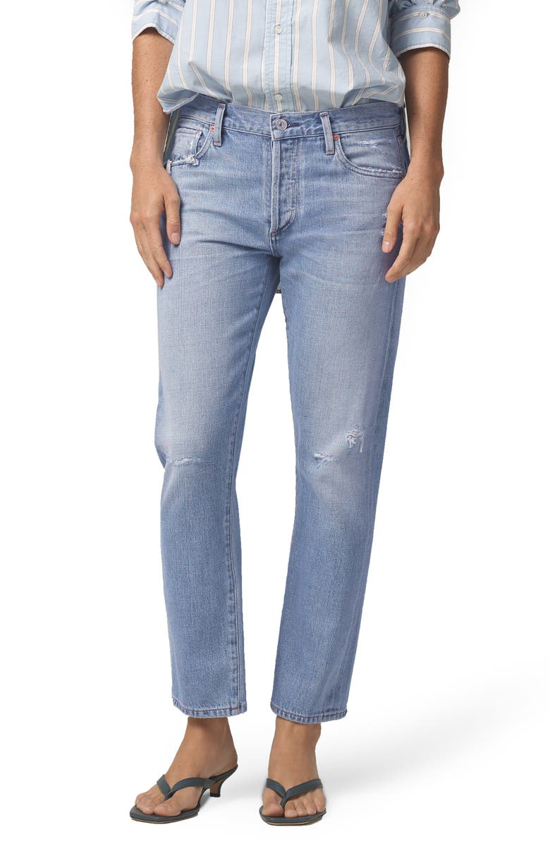CITIZENS OF HUMANITY Emerson Distressed Slim Fit Boyfriend Jeans, Main, color, SPOTLIGHT