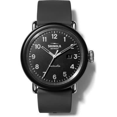 Shinola The Model D Detrola Silicone Strap Watch, 4m