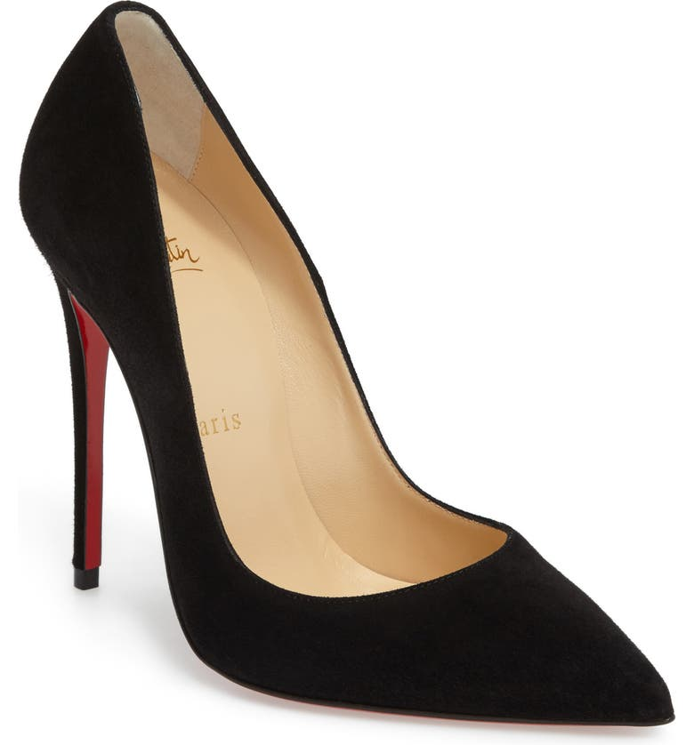 CHRISTIAN LOUBOUTIN So Kate Pointed Toe Pump, Main, color, BLACK SUEDE