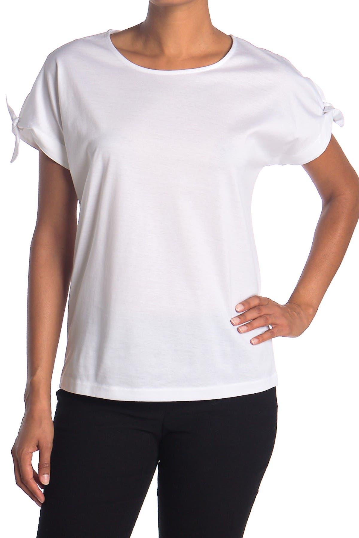 Image of BOSS Everin Tie Sleeve Crew Neck T-Shirt