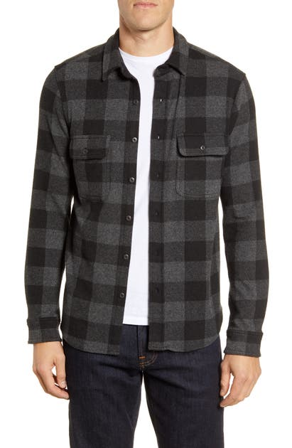 Faherty Sweaters LEGEND LONG SLEEVE PLAID BUTTON-UP SWEATER SHIRT
