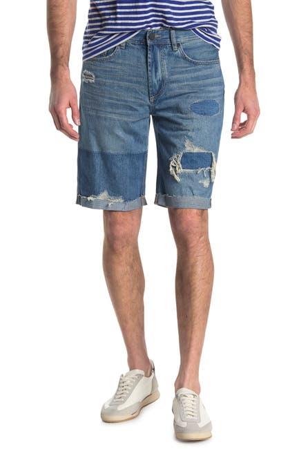 Image of BLANKNYC Denim Wooster Contrast Distressed Denim Shorts