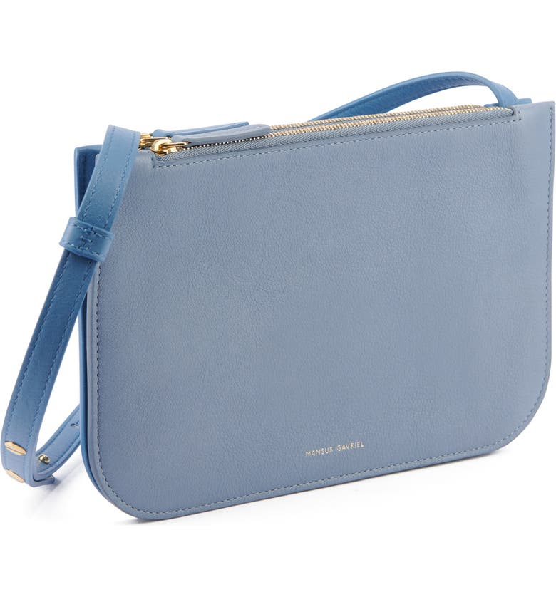 MANSUR GAVRIEL Double Leather Crossbody Bag, Main, color, RAIN/ LAGO