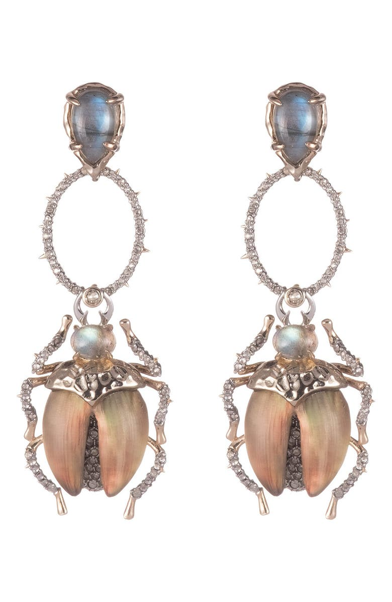 ALEXIS BITTAR Scarab Earrings, Main, color, 200