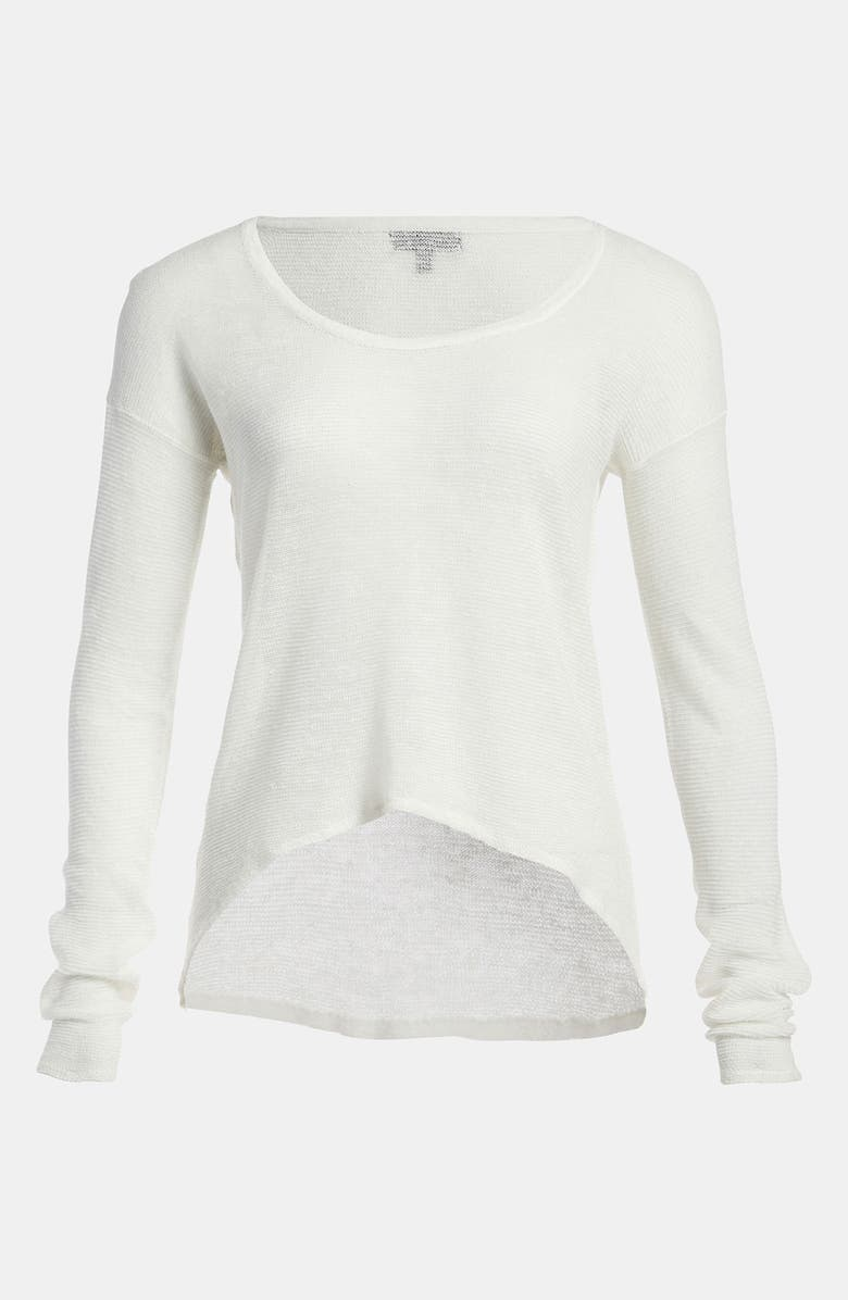 TILDON Sheer High/Low Pullover, Main, color, 100