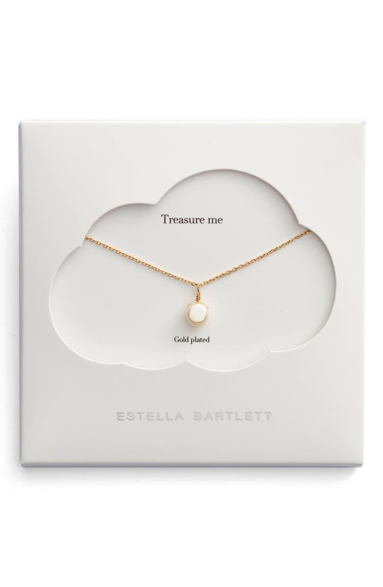 ESTELLA BARTLETT Treasure Me Pearl Necklace, Main, color, 710
