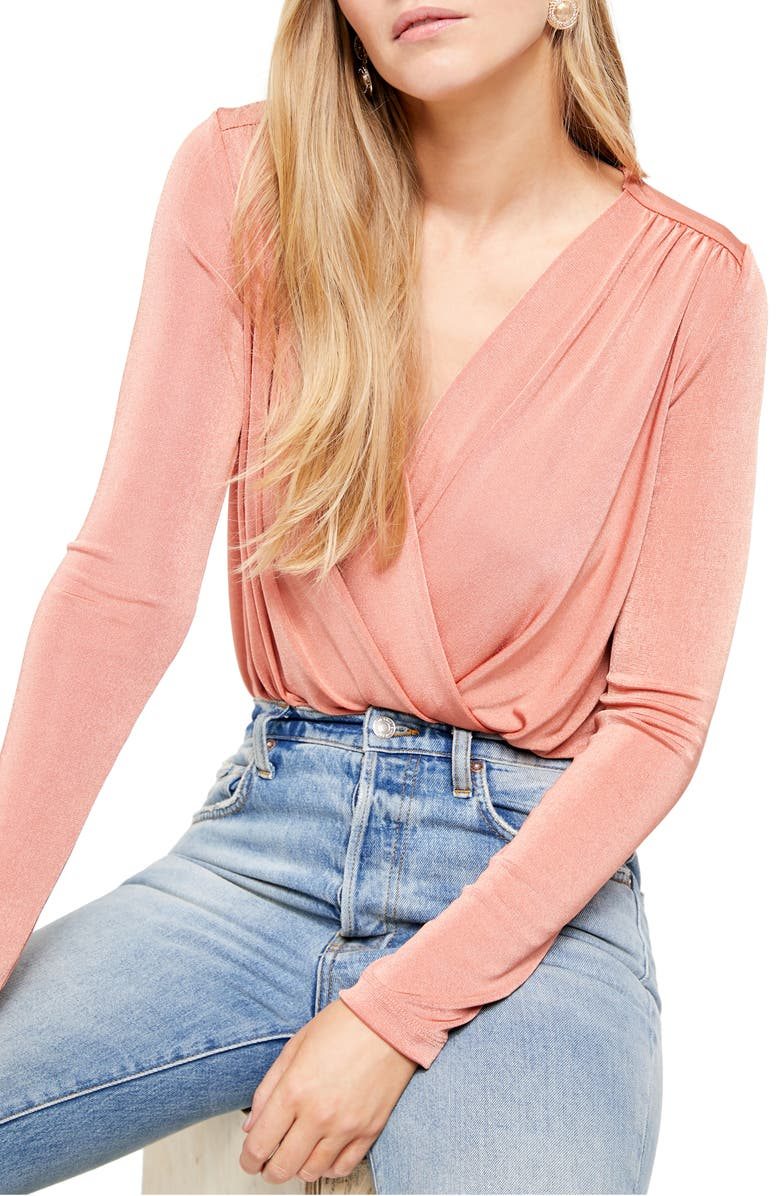 FREE PEOPLE Turnt Bodysuit, Main, color, GINGER SPICE