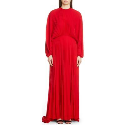 Valentino Soleil Plisse Silk Gown