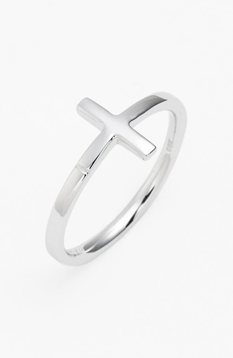 BONY LEVY 14K Gold Cross Ring, Main, color, 710